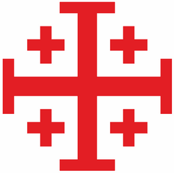 Scottish Anglican Network logo: a red cross with four smaller crosses